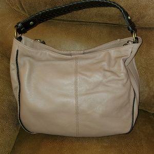 B Makowsky Leather Hobo Bag